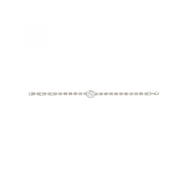 Bracciale dettaglio GG in argento Gucci silver bracelet sconto discount 481687