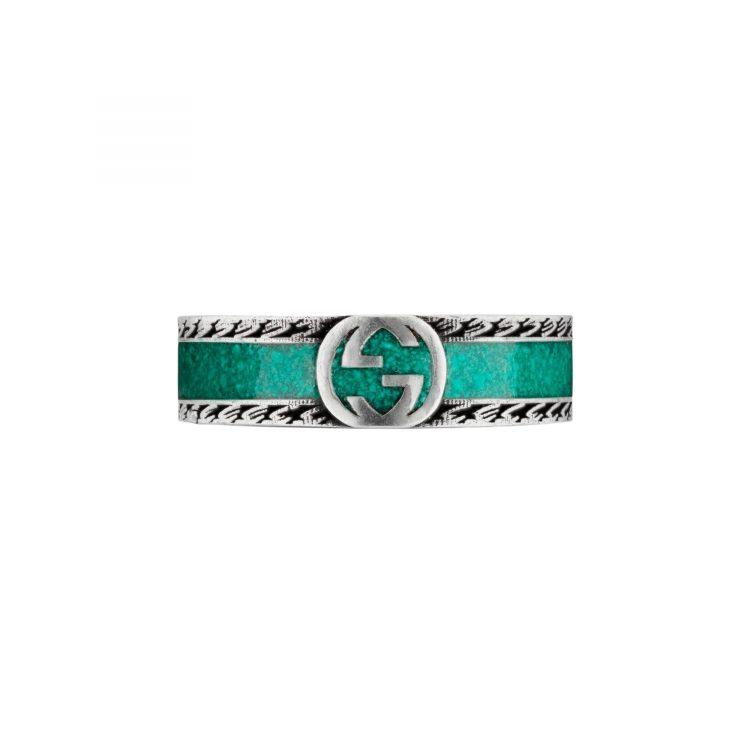 645573_J8410_8136_002_100_0000_Light-Anello-con-logo-GG c anello Gucci smalto rurchese interlocking sconto discount enamel ring