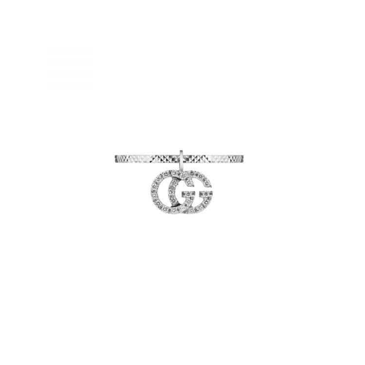 648596_J8568_9066_002_100_0000_Light-Anello-GG-Running-18carati-con-diamanti ring GUCCI diamonds sconto discount