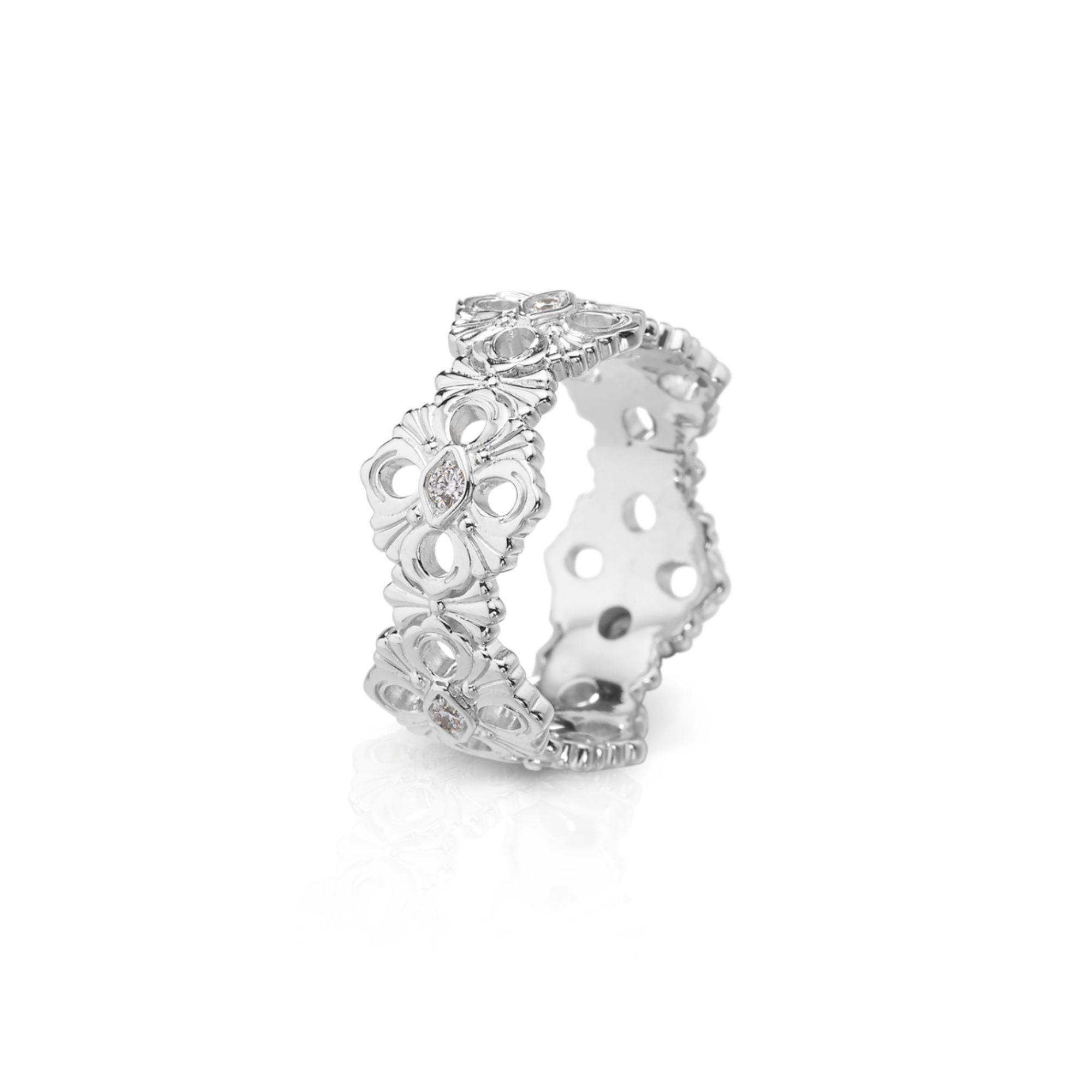 ETE013750 anello eternelle opera buccellati oro bianco diamanti anello ring diamonds sconto discount
