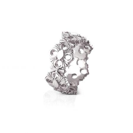 ETE013785 anello eternelle opera buccellati oro bianco anello ring sconto discount