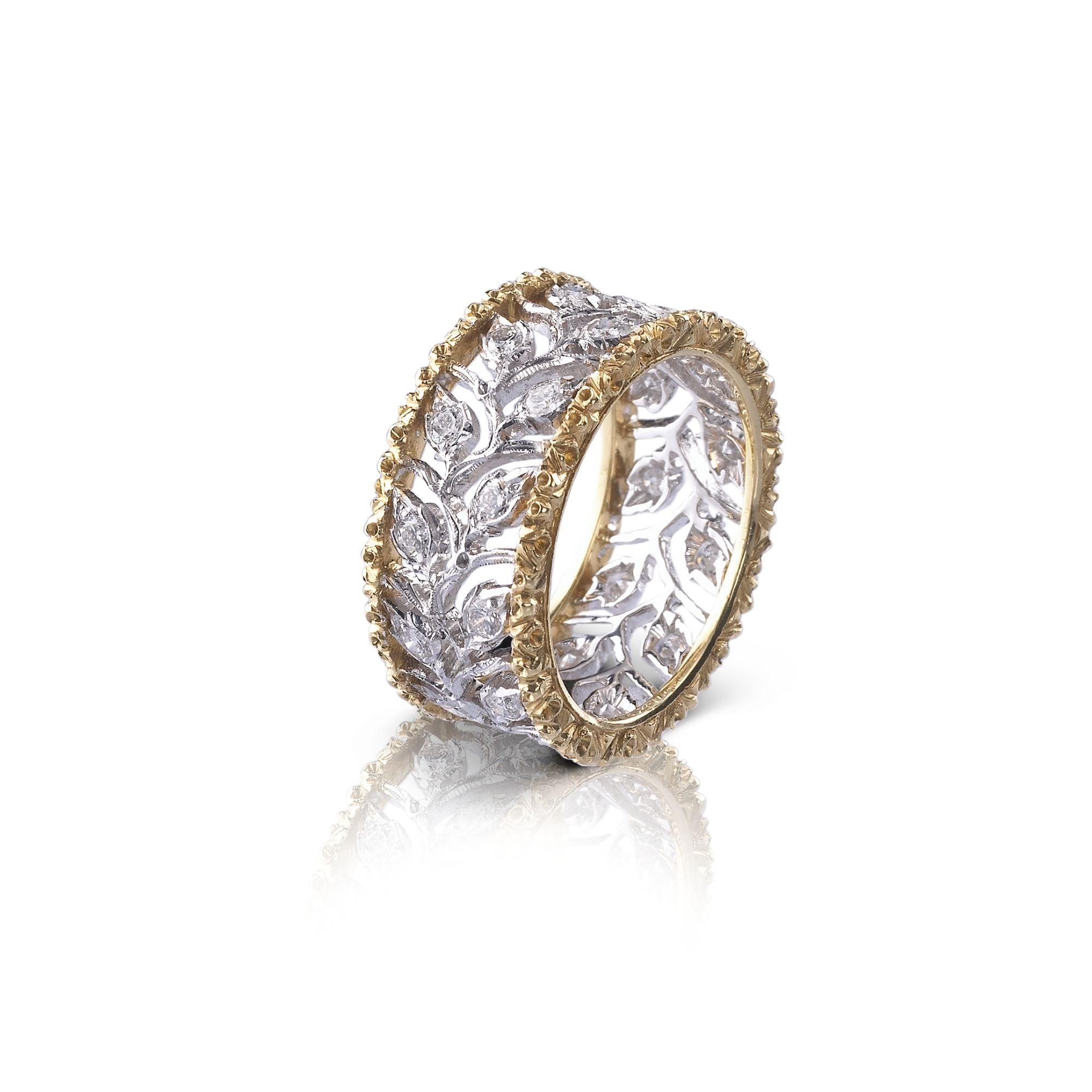 Anello Eternelle Buccellati ramage ring diamonds sconto discount