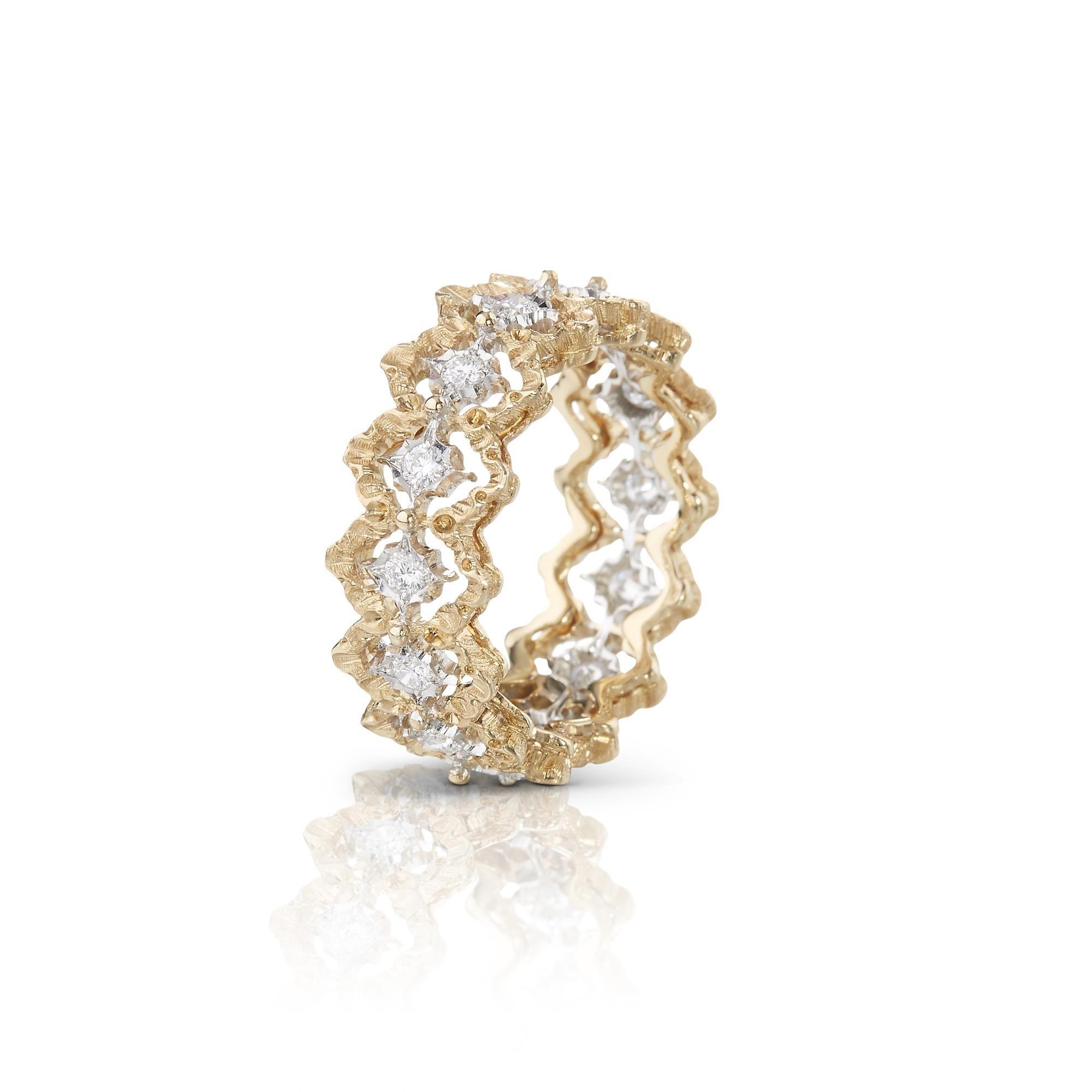 JAUETE015408 eternelle buccellati rombi ring anello buccellati sconto discount