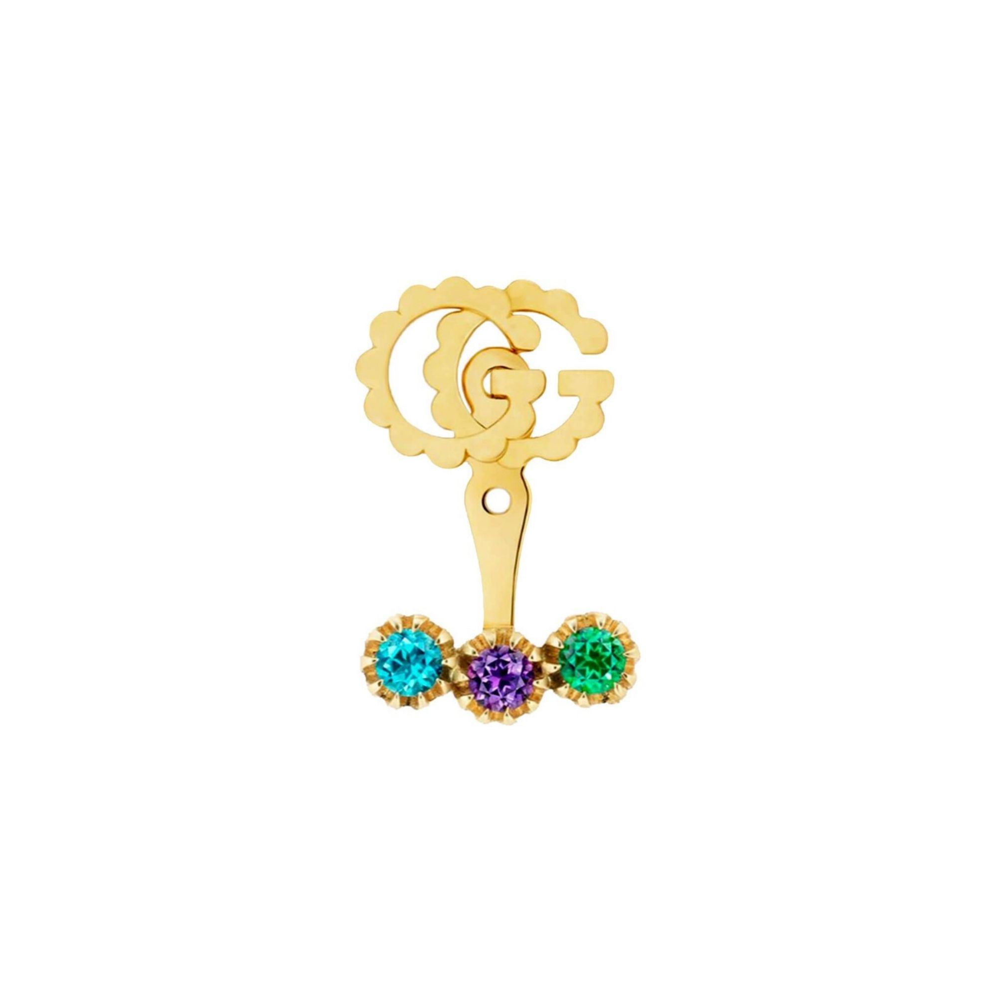 gucci GG Running single earring with muticoloured topazes