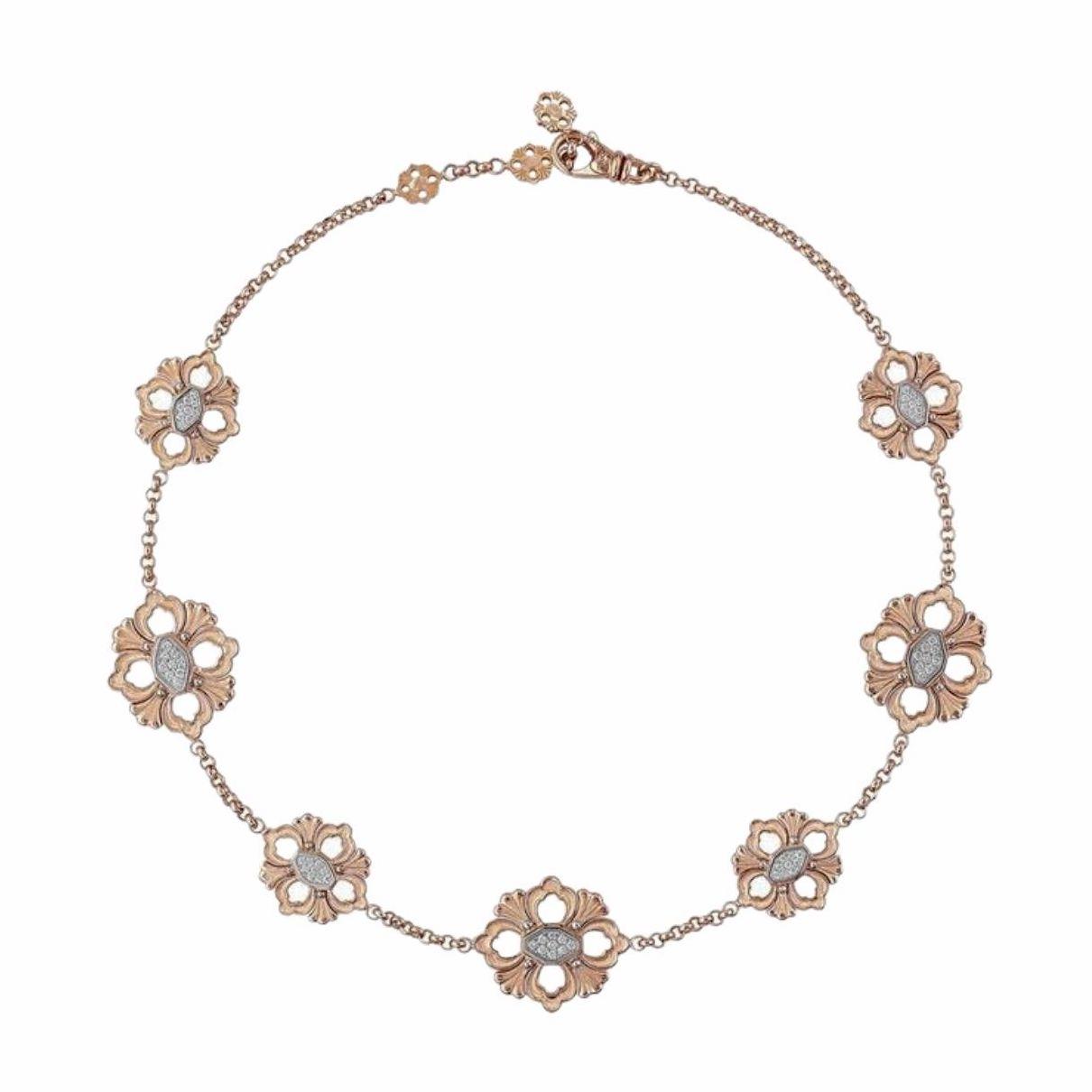 Collana oro rosa opera icona necklace rose gold NEC012573 sconto discount