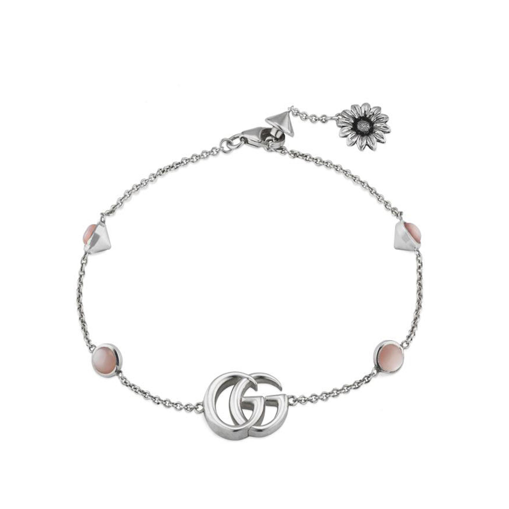 Gucci Bracciale Doppia G con fiore bracelet sconto discount