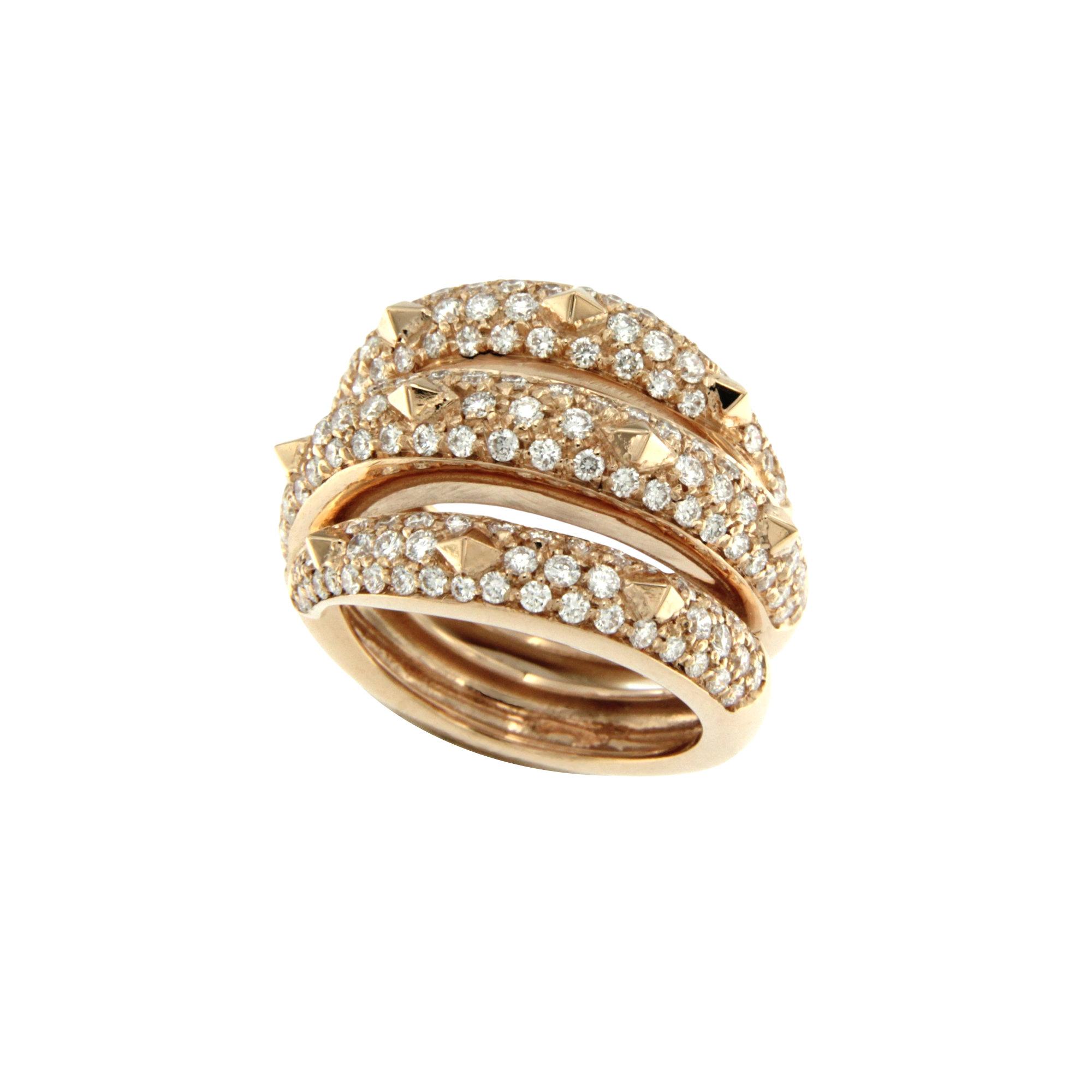 Anello Cattiva rose Gold ring diamond sconto discount s