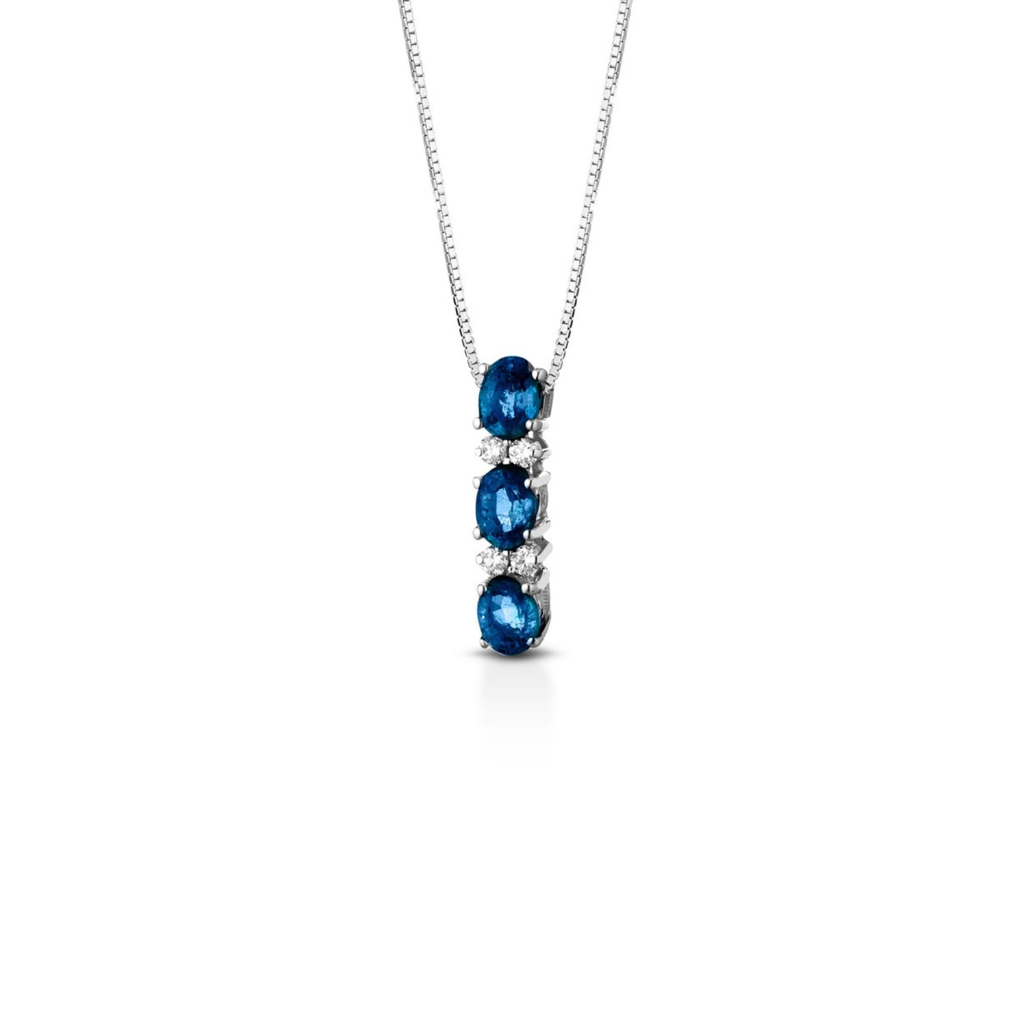 Collana diamanti e zaffiri Diamond and sapphire necklace sconto discount