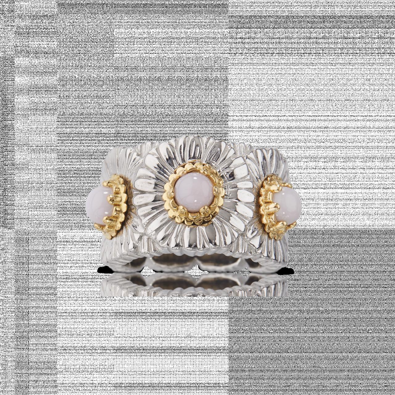 BUCCELLATI ANELLO ETERNELLE Daisy Blossom Color Anello eternelle in argento con opale MATERIALI: ARGENTO, OPALE RING SCONTO DISCOUNT ETE021325