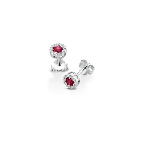 Orecchini al lobo con rubini e diamanti Lobe earrings with rubies and diamonds sconto discount