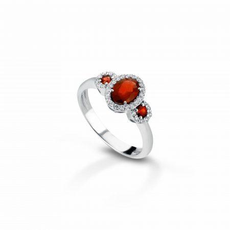 Anello con diamanti e rubini Ring with diamonds and rubies sconto discount