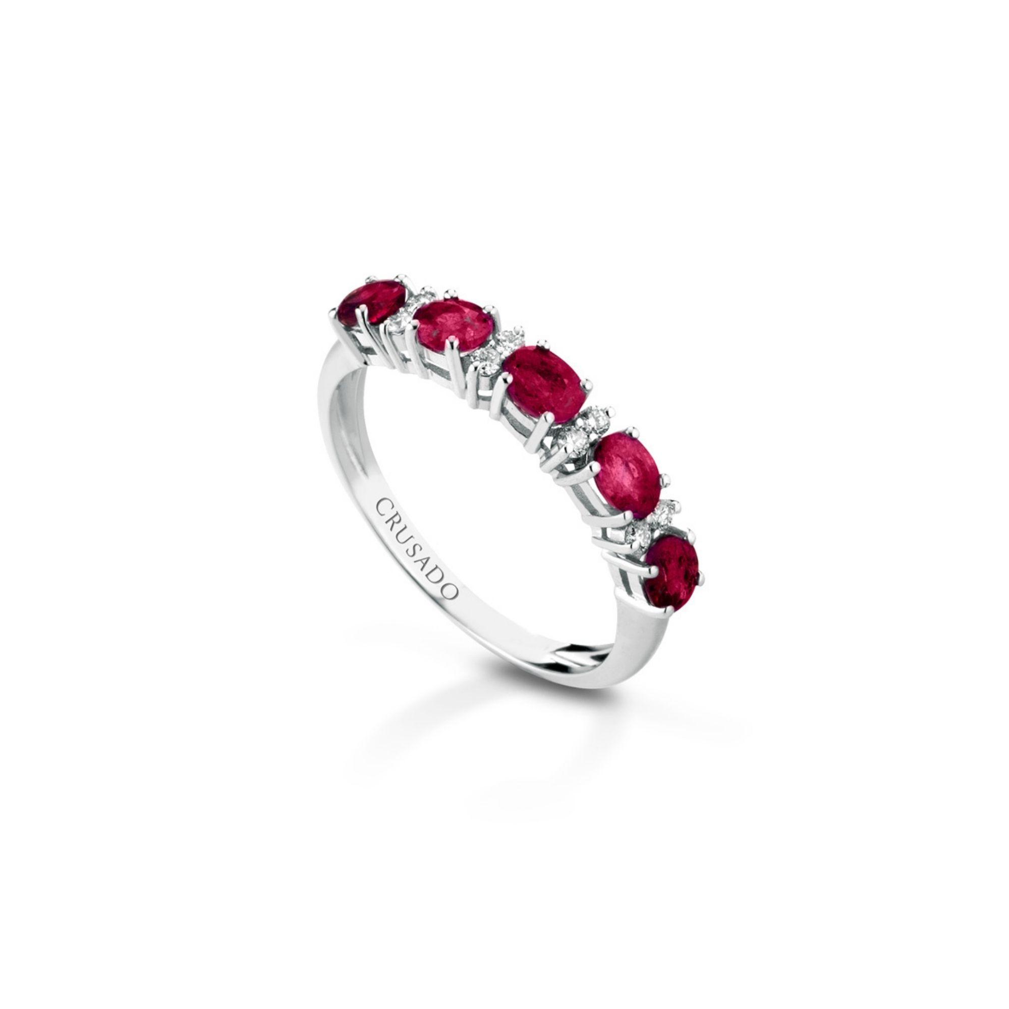 Anello con diamanti e rubini Ring with diamonds and rubies sconto discount 5