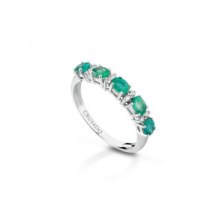 Anellosmeraldi e diamanti sconto discount