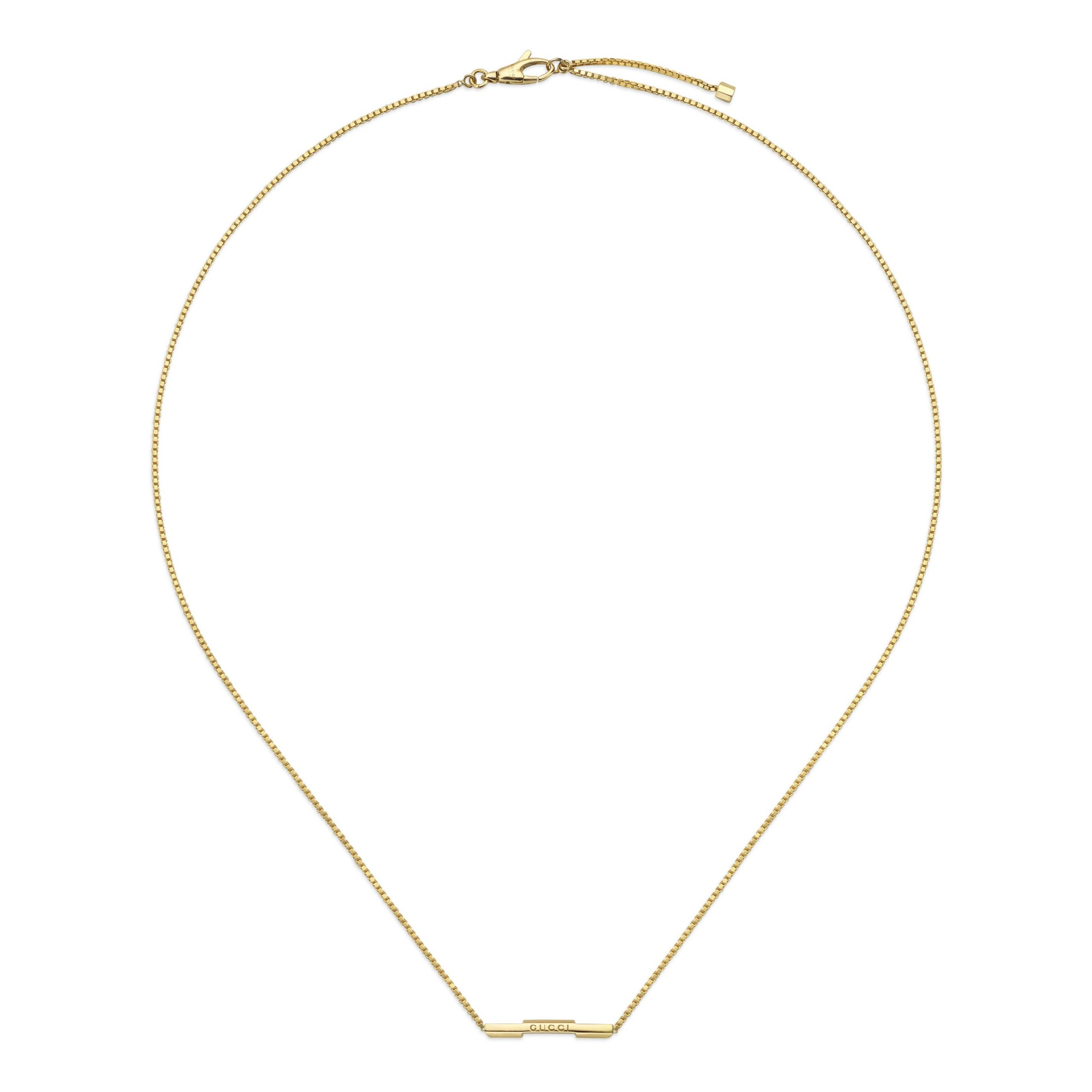 YBB662108001_001 gucci link necklace collana barretta sconto discount