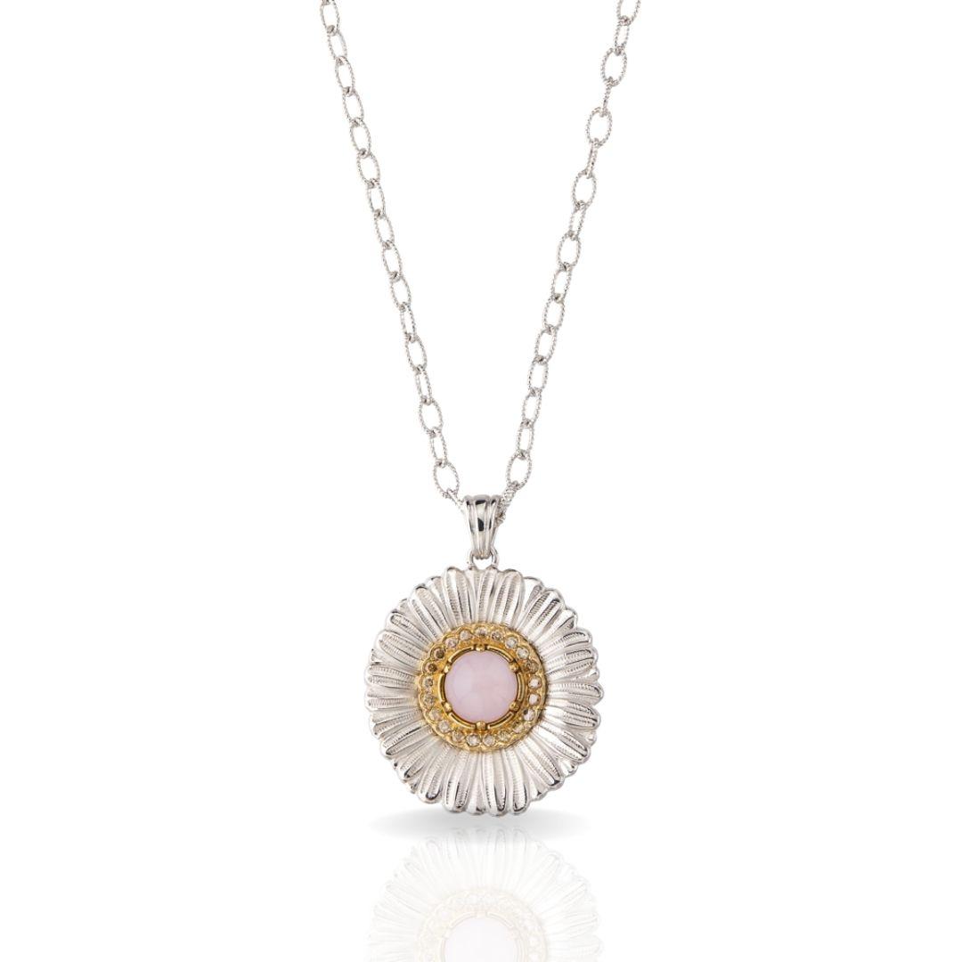 BUCCELLATI collana con ciondolo Daisy Blossom Color ciondolo