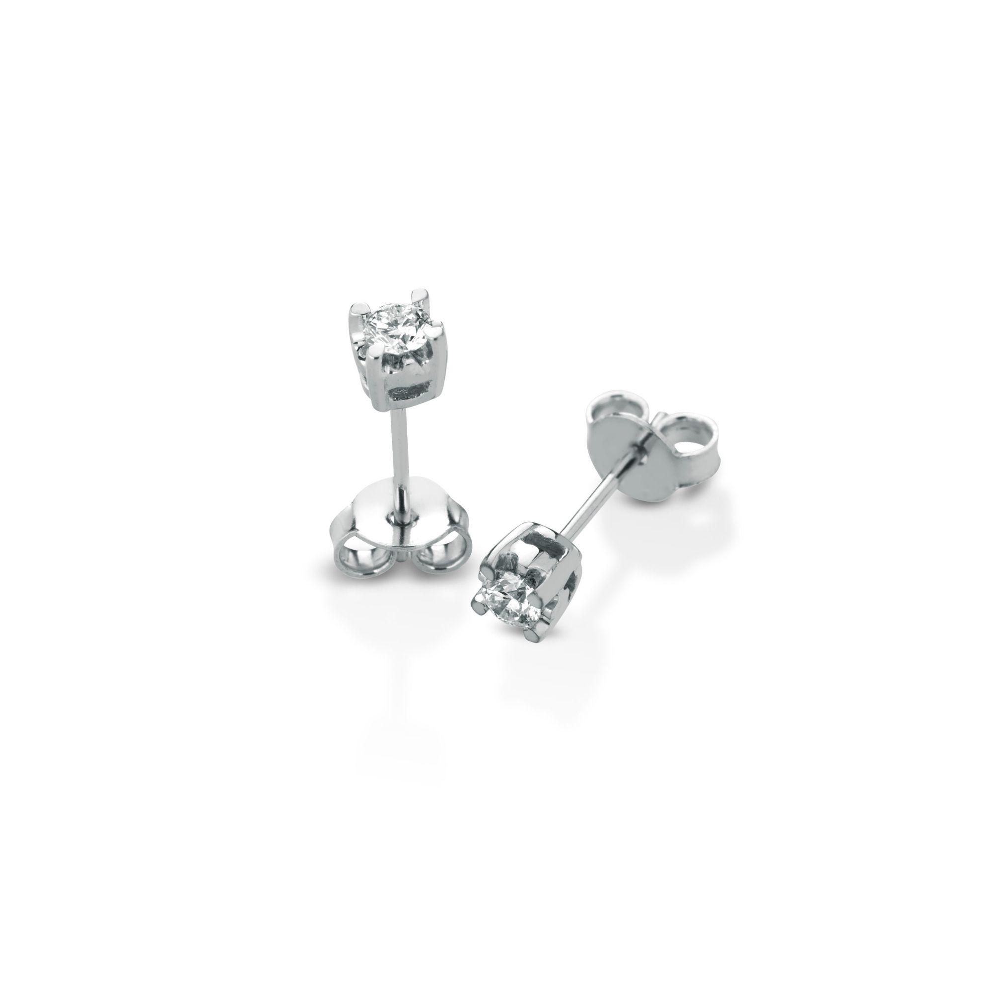 Orecchini al lobo con diamanti Lobe earrings with diamonds sconto discount