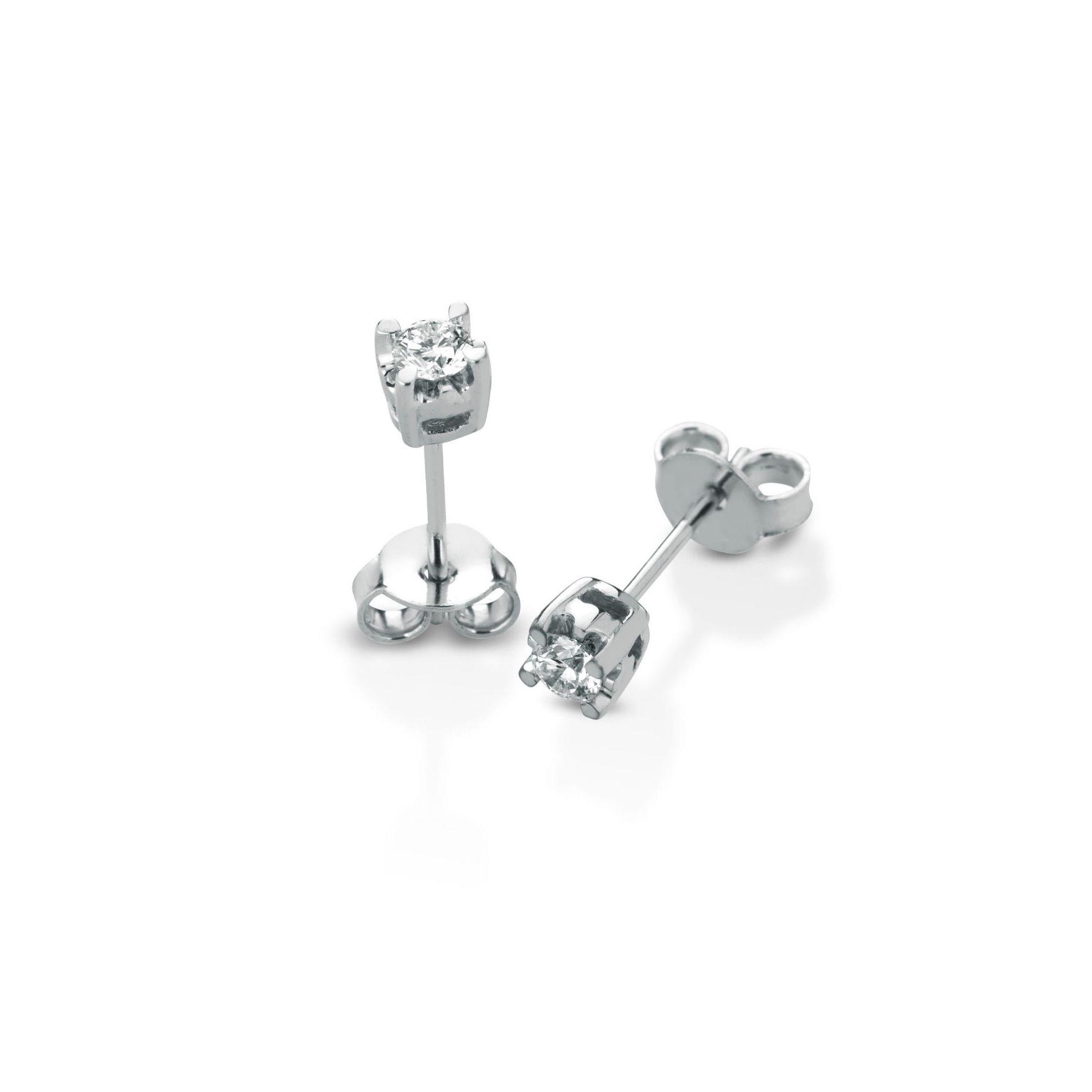Orecchini al lobo con diamanti Lobe earrings with diamonds sconto discount big