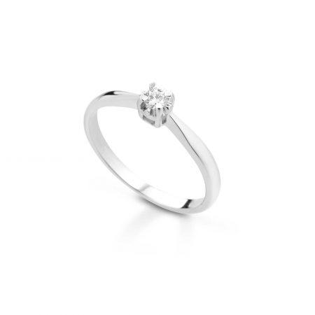 Anello solitario con diamante Solitaire ring with diamond sconto discount