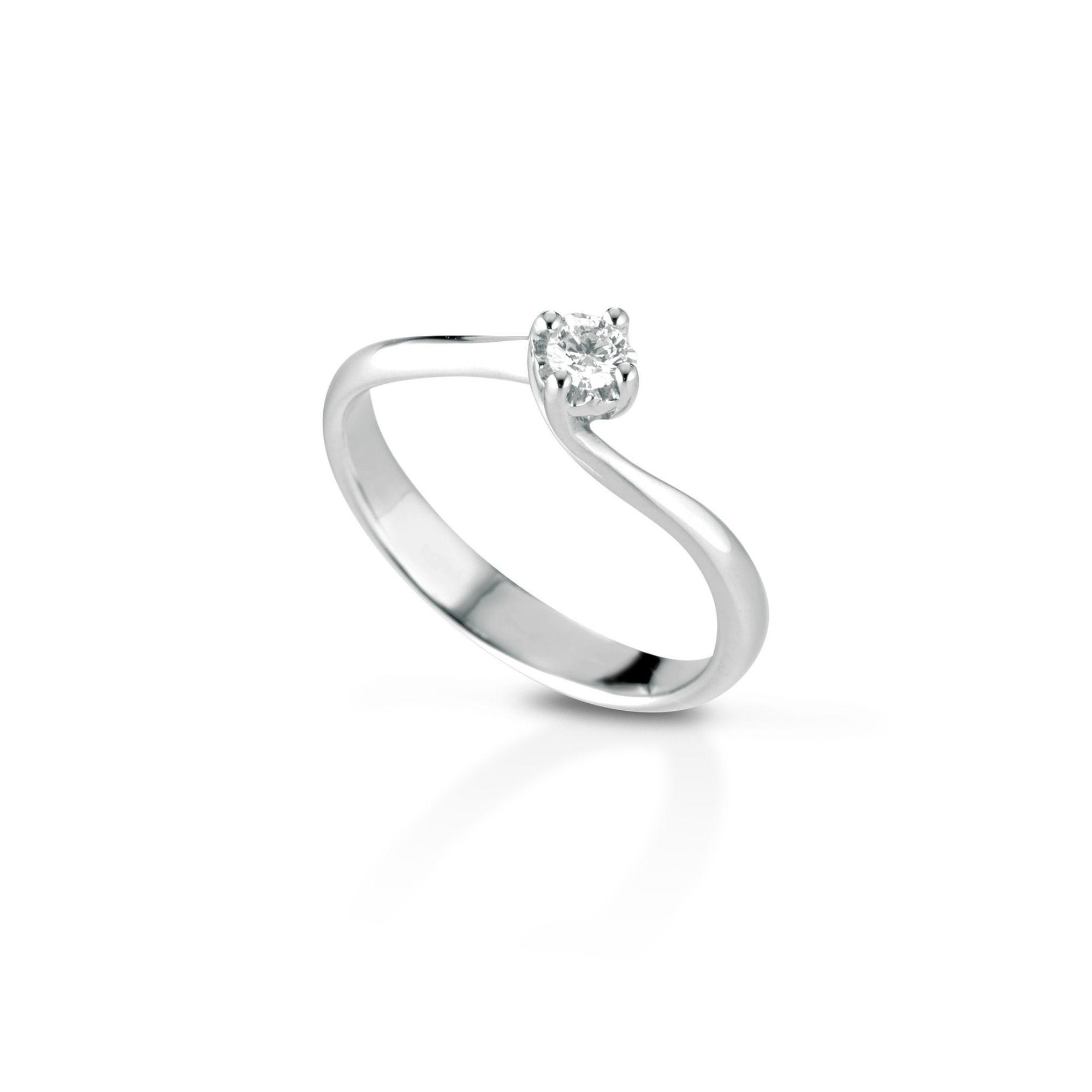 Anello solitario con diamante Solitaire ring with diamond sconto discount C