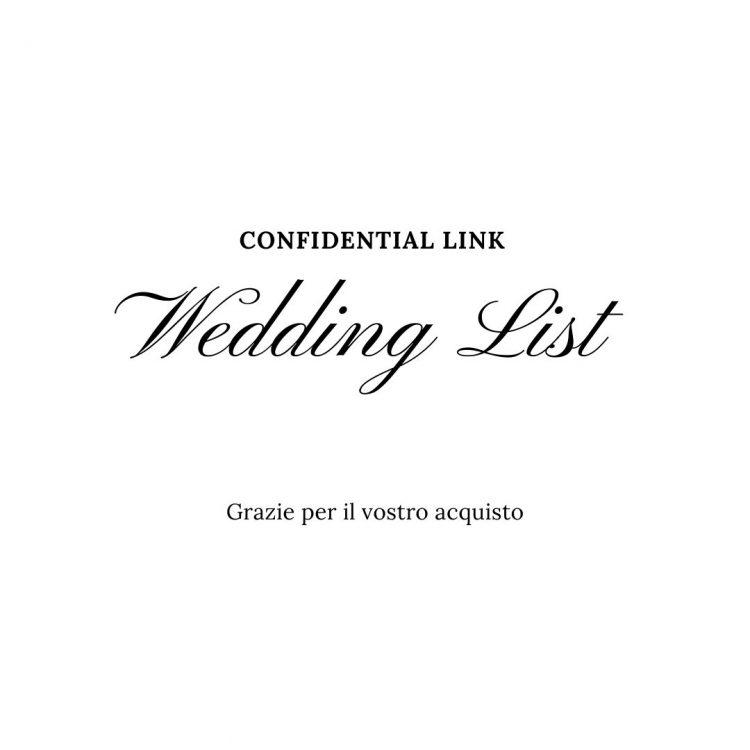 Confidential link Wedding List