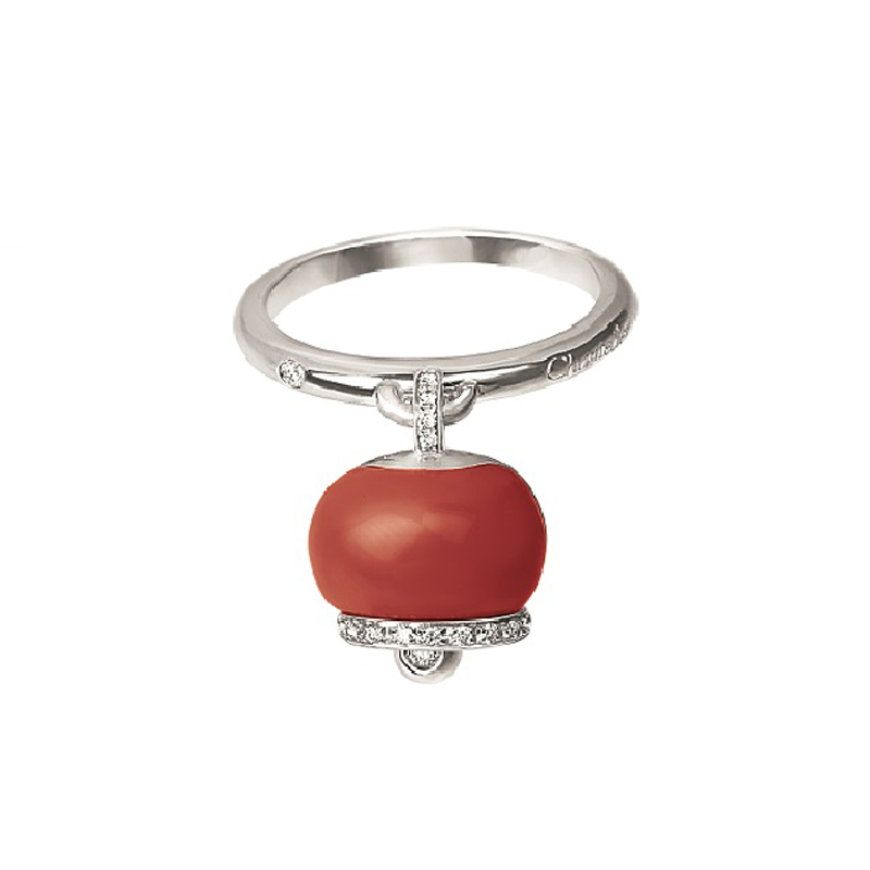 Chantecler Anello Campanella Corallo ring bell coral