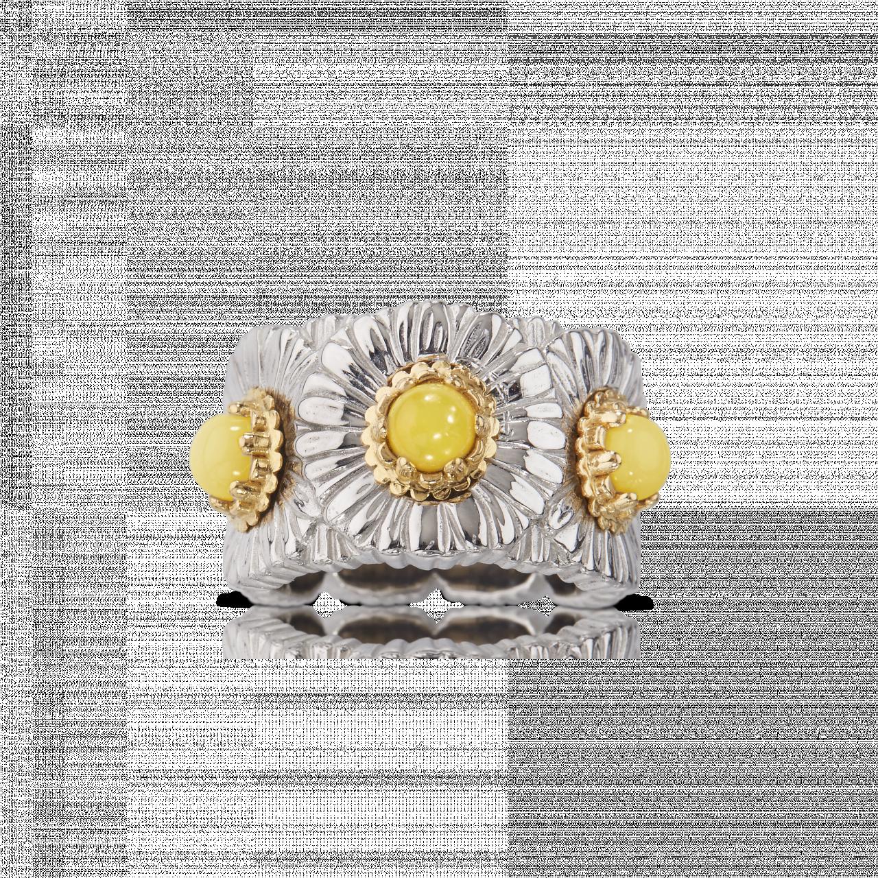 BUCCELLATI ANELLO ETERNELLE Daisy Blossom Color Anello eternelle in argento con opale MATERIALI: ARGENTO, OPALE RING SCONTO DISCOUNT